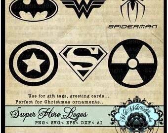 Superhero svg, Silhouettes, Superhero Vectors, Spiderman Clipart, ai, svg,eps,png, dxf, wonder woman, batman