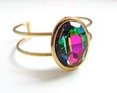 Vitral Oval Crystal Bracelet - Crystal Cuff Bracelet - designed with Swarovski® crystals
