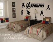 Avengers Wall Decals Captain American Hulk Hawkeye Iron Man Thor