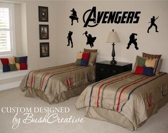 Avengers Wall Decals Captain American Hulk Hawkeye Iron Man Thor 004