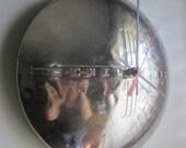 1940 Vintage Chevy Hubcap Clock no.2285