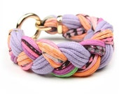 Lavender Peach Pink Bracelet, Braided Bracelet, Bangles, Braided Bangles, Gift For Her, Summer Fashion, Spring Accessories, Spring Style