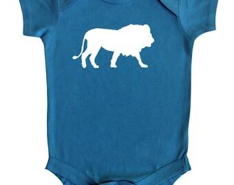 Safari Animal Silhouette Baby Bodysuit-Lion