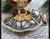 """Primitive Raggedy Ann/Annie~16"""" """"ANDY'S GIRL""""~w/pillow ornie!~NEW collection"""