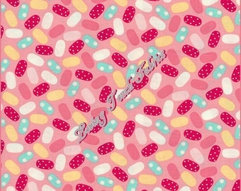 """Benartex """"Sweet Shoppe"""" Jelly Beans Candy #03644 26 Cotton Fabric Priced Per 1/2 Yd."""