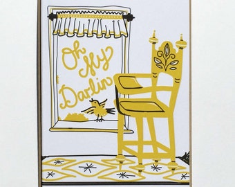 "Baby ""Oh My Darlin"" Letterpress Card"