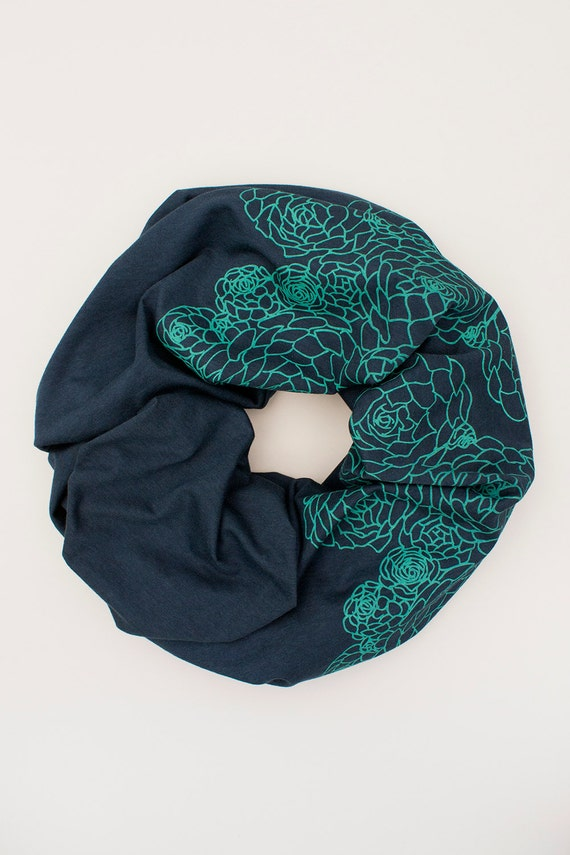 infinity scarf soft organic cotton scarf succulent by flytrap