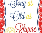 Disney's Beauty and The Beast Inspired Song as Old as Rhyme Sign