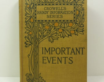 Important Events, A Book of Dates, 1899 Edition, Crowells Handy Information Series