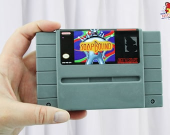 Soapbound SNES Super Nintendo Parody, Vanilla Select Scented by DigitalSoaps, Retro Video Game Geek Gift
