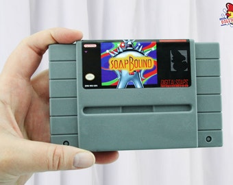 Soapbound SNES Super Nintendo Parody, Energy Citrus Scented by DigitalSoaps, Retro Video Game Geek Gift