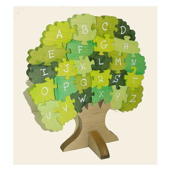 Award Winning  Alphabet Tree Wooden 3D Puzzle -