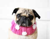Polka-dot Knit Dog Collar - Dog Neck Warmer - Dog Scarf - Pug Clothing - Dog Clothing - Pet Apparel - All You Need is Pug®
