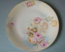 Vintage Prussia Royal Rudolstadt Plate Hand Painted Roses