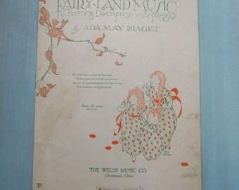 1926 Vintage Fairy-land Sheet Music Ada May Piaget
