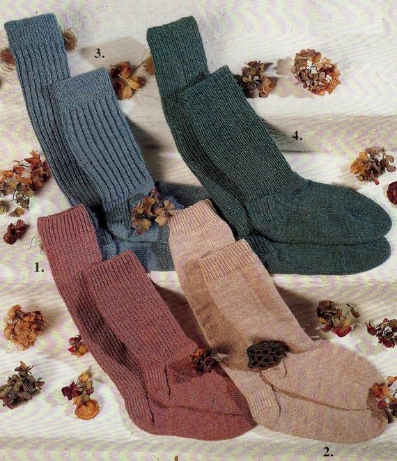 Knitting Styles Patterns : Pdf knitting pattern ply socks in styles sizes