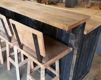 YOUR Custom Rustic Barn Wood Bar, Island or Cabinet with Free Shipping-CBBIC1800F