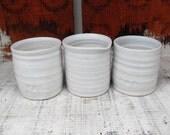 Mini Pinch Pots in White Celadon glazes
