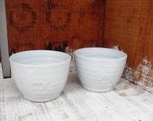 2x Small Bowls in White Celadon glazes