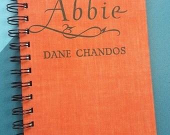 Recycled Book Journal & Notepad, Abbie, Handmade