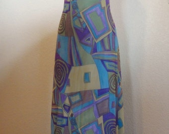 Vintage 80's Tadashi Maxi Dress-Ultra Sexy Plunging Back-Sparkly-Party-Cruise-Sz XS Petite