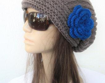 Knit Hat  Slouchy Beanie - Womens  hat  Knit Beanie hat   Slouchy Beanie gift for her  Slouchy Hat  Chunky Knit Hat Winter hat Womens Beanie