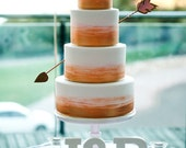 Cupid's Arrow cake topper decoration YOU CHOOSE the colors