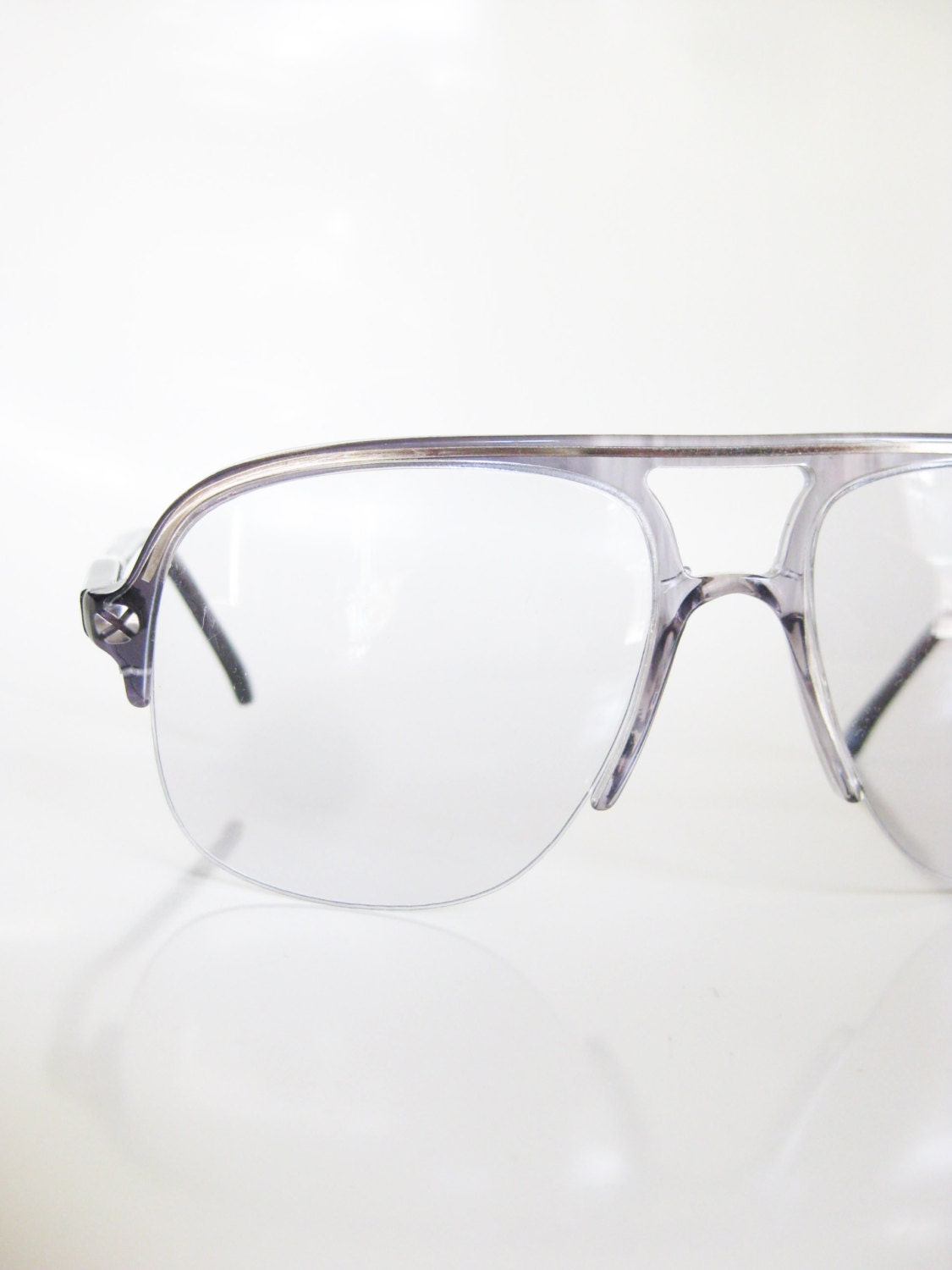 Glasses Frames Italian : Vintage Italian Sunglasses Mens Eyeglasses Double Aviator