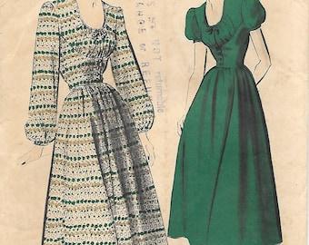 Advance 5073 - 1940s Peasant Dress Unprinted Sewing Pattern Dirndl Bodice