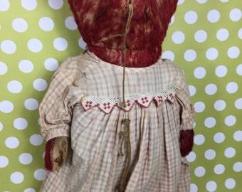Teddy Bear- Red Mohair