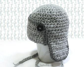 Baby Hat Crochet Pattern- Baby Aviator Hat- Baby Photo Props- Crochet Baby Hat Pattern- Newborn Baby Hat- Crochet Aviator Hat Pattern