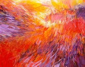 Large Original Abstract Painting, Phoenix by Jessica Torrant, Modern Home Decor, Contemporary Interior Design, red yellow purple white