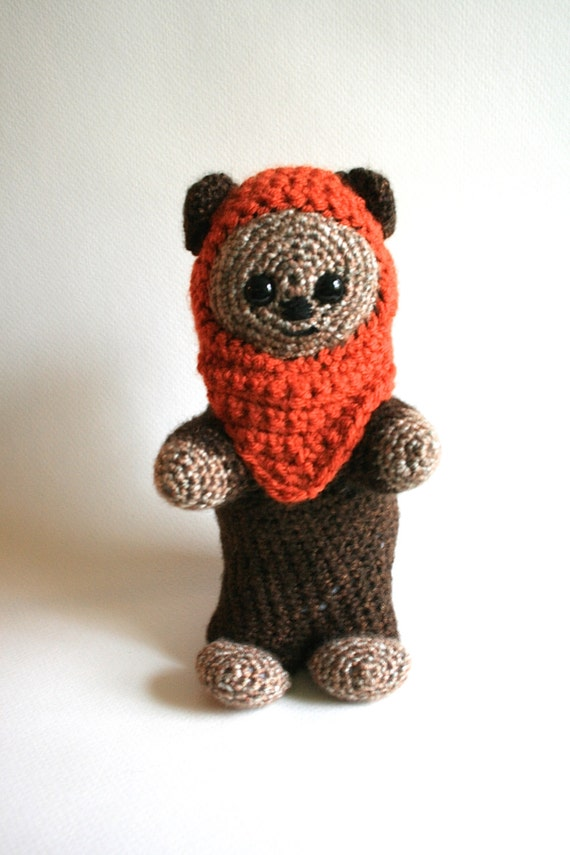 Jawa Star Wars Amigurumi : Star Wars Ewok Plushie Amigurumi Ewok Doll Ewok Crochet