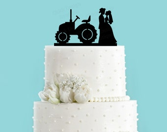 international tractor wedding cake topper tractor wedding cake topper etsy 16467