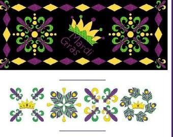 Mardi Gras table runner pattern