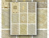Printable Vintage Lace Backgrounds, Digital Collage Sheet, ACEO Size Images, Instant Download (no. 2)