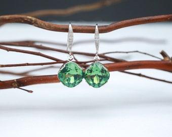 Bridesmaid Jewelry Erinite Crystal Earrings