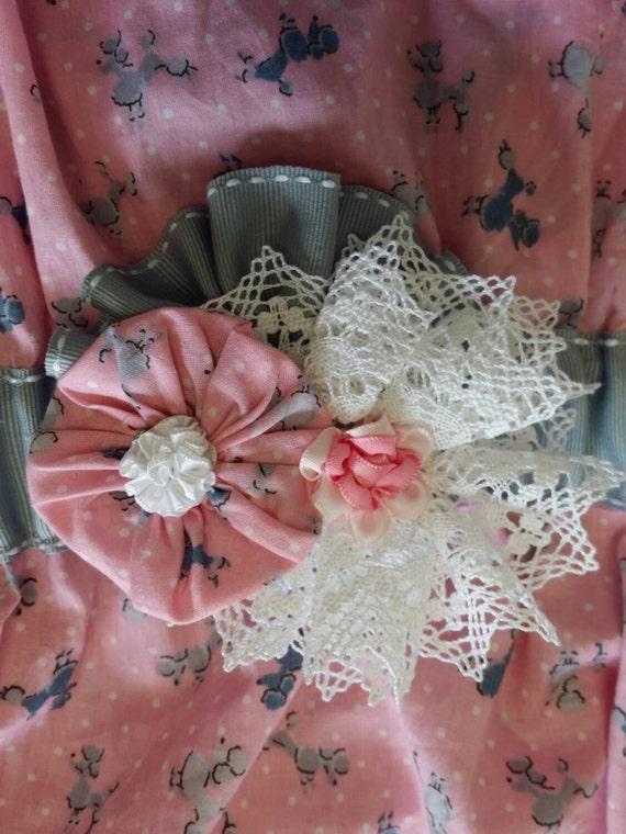 Ribbon Flowers, Ribbon Flower Pin, Ribbon Flower Pattern, Fabric Flower Pattern, PDF Pattern,  Accessories