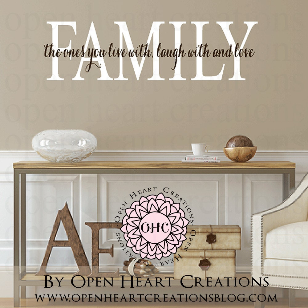 Wall Decals Quotes: Family Quotes Wall Decals Live Laugh Love Vinyl Wall Decal