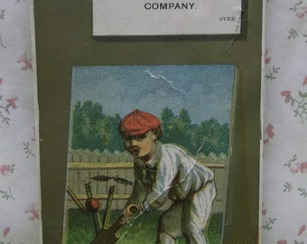 Cricket Player-Man in Uniform-Hat-Sports-Victorian Trade Card-Camelia Toilet CO