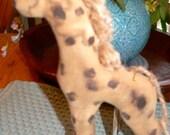 Handmade Primitive Giraffe Pull Toy HAFAIR