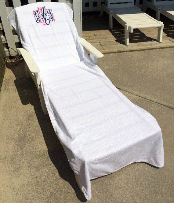 Monogrammed Lounge Chair Cover