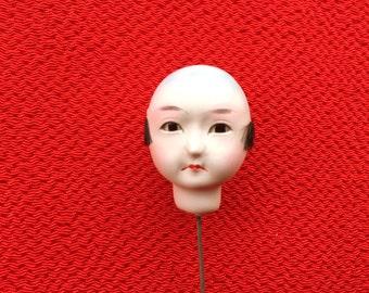 Japanese Doll Head - Vintage  Doll Head - Boy Doll Head - Man Doll Head - Monk No.3 Small Size Bald