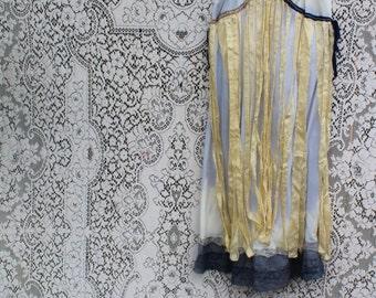 Small/Med Mermaid Sundress/Ocean Nymph Dress/Earth Sky Air Sundress/Butterfly Dress/County Girl Sundress/Upcycled Sundress/Tattered Couture