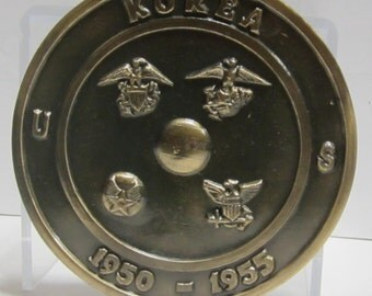 Korean Grave Marker ~US~ 1950-1955 Brass Plated~ Marine~Navy~Coast Guard ~Army