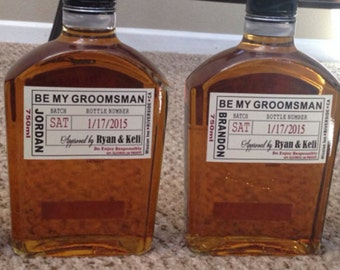 Private Listing for idoal25zepeda5310 Will you Be My Groomsman Liquor Label - Best Man Label - Wedding - Groomsman Liquor Labels