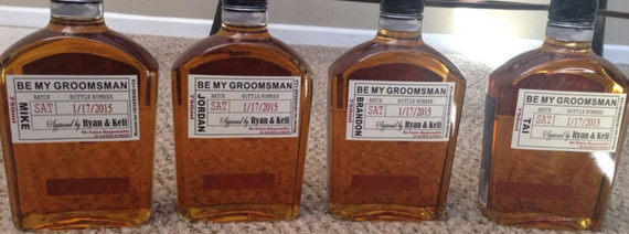 Will you be my groomsman liquor label best man label for Groomsman liquor bottle labels