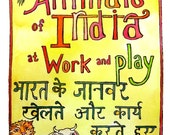 A coloring book in Hindi and English: 'Animals of India at Work and Play'
