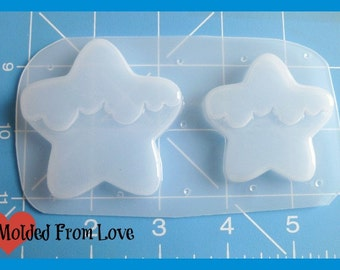 SALE MFL Exclusive 2  Melty Frosted Kawaii Stars handmade  Plastic Resin Mold