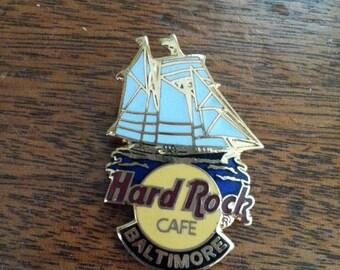 Hard Rock Cafe Baltimore Clipper Ship Logo Pin